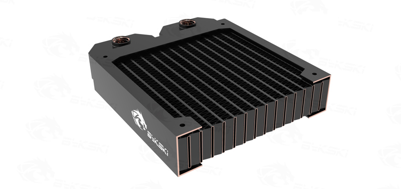 BYKSKI 28mm Thick Copper 360mm Single Row of Radiator Computer Water Cooling Liquid Heat Exchanger use for 12cm Fans B RD360 TN in Fluid DIY Cooling from Computer Office