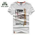 TOP Quality AFS JEEP  Brand Casual T Shirt 100% Cotton Tops & Tees Summer Men T-shirt  T Shirt Men Clothing 50