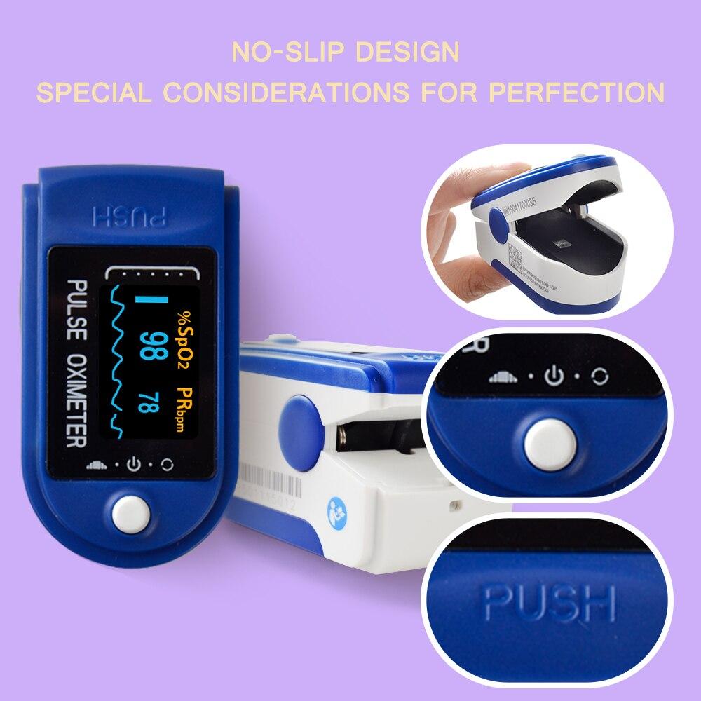 Image 2 - Digital Fingertip Oximeter Spo2 PR Monitor Blood Oxygen Pulse Oximeter Finger Pulse Oximeter Oximetro de dedo-in Blood Pressure from Beauty & Health