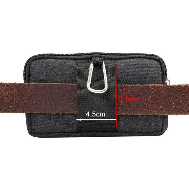 Phone Pouch For xiaomi redmi note 5 pro mi max 3 mi8 a2 PocoPhone F1 redmi 6X 6 5 4x Belt Clip Cowboy Cloth Casual Waist Bags 3