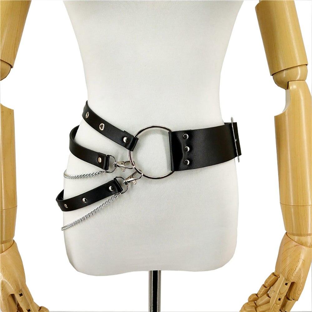 Leather-Harness-Chain-Belt-Pole-Dance-Stockings-Wedding-Garter-Belt-Bdsm-Bondage-Pastel-Goth-Sexy-Suspenders-(2)