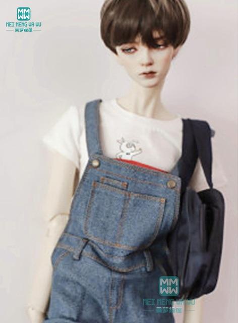 BJD búp bê quần áo phù hợp đối với BJD chú thời trang hoang dã đẹp trai dây đeo jeans T-Shirt trùm đầu cardigan