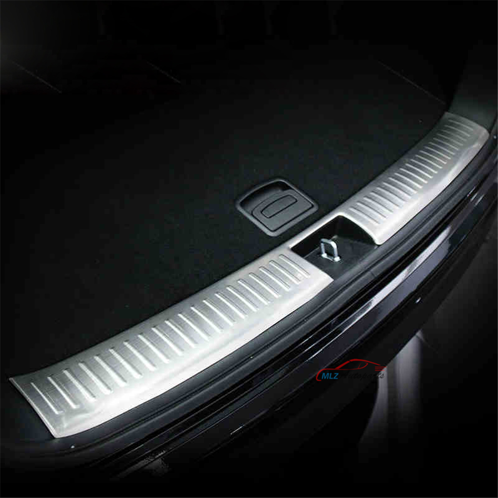 Stainless Steel Inner Rear Bumper Protector Sill Plate Cover Interior Trunk Guard Skid Trim For Kia Sorento 2016 front rear bumper protector sill trunk guard skid plate trim cover plate for nissan qashqai 2007 2008 2009 2010 2011 2012 2013