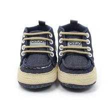 Baby Boots 2017 Fashion Toddler Girls Boys Lace up Crib Shoes Prewalker Soft Sole Sneakers D50