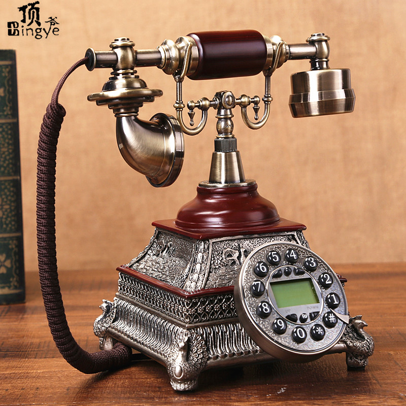 Ye are the top antique family retro European Garden telephone Decoration home art fitted Redial vintage phone Caller
