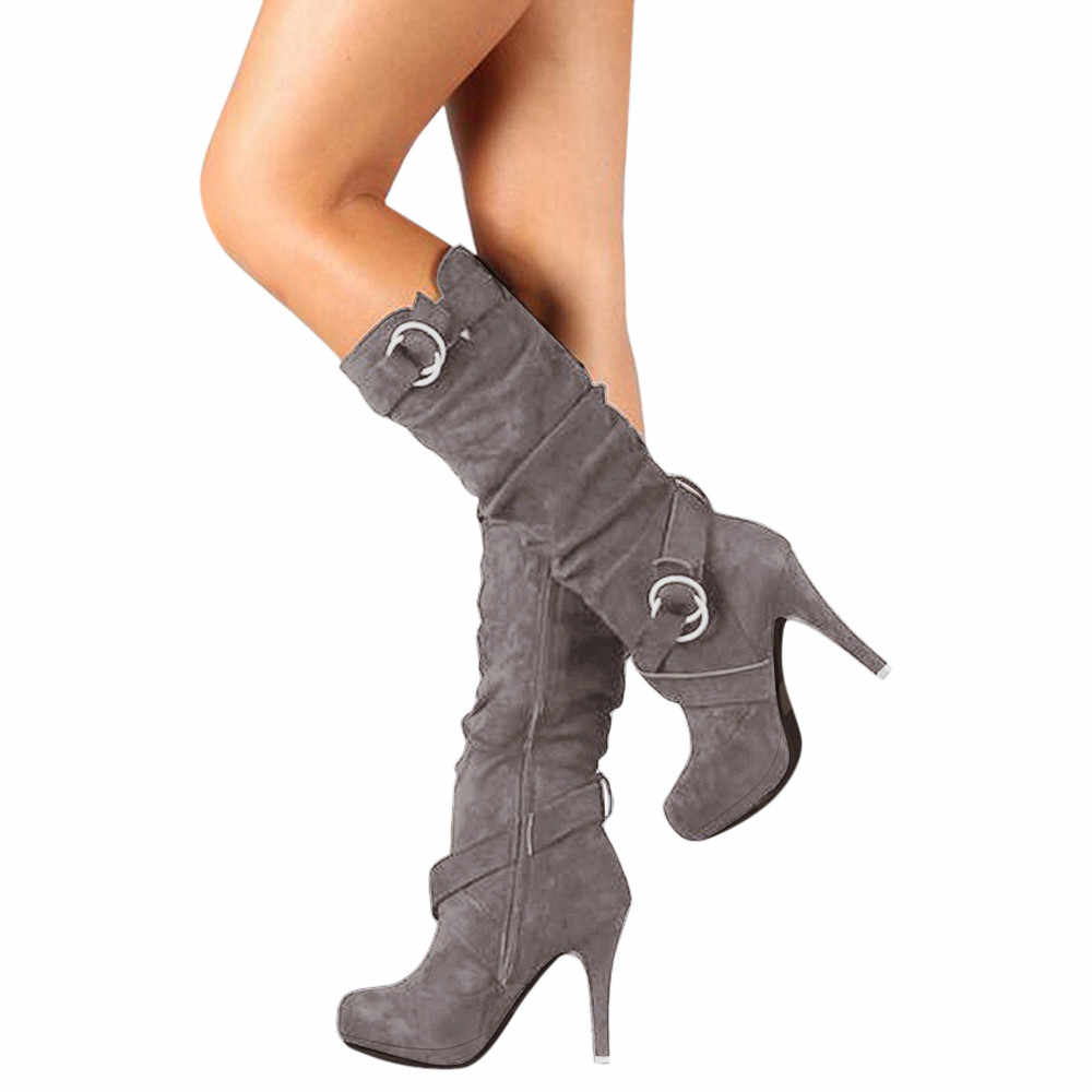 cf4481edc7c ... Women Thigh High Boots Stilettos Sexy Over the Knee Boots Pointy Toe  High Heel Long Boots ...