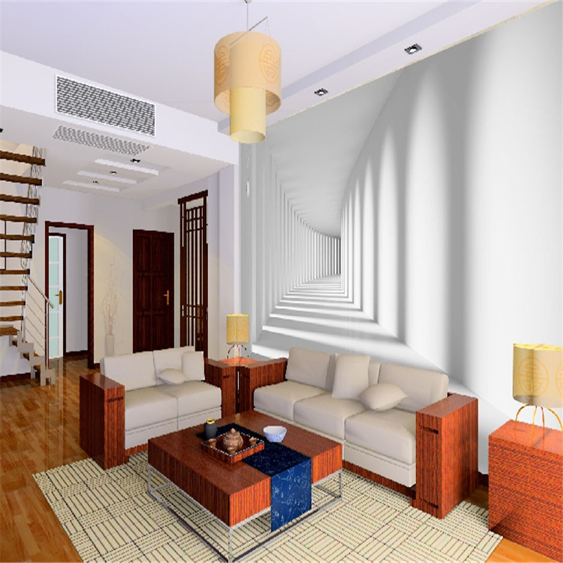 Beibehang Customize White Passage Corridor Photo Wallpaper / Living Room  Sofa Spatial Extension Personality Wall Mural Wallpaper In Wallpapers From  Home ... Part 69