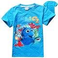 2016 nueva Finding Nemo Dory verano de Los Muchachos Camisetas Niños Ropa de Bebé de Algodón de Manga Corta Camiseta de Los Muchachos de Dibujos Animados Para Niños camiseta