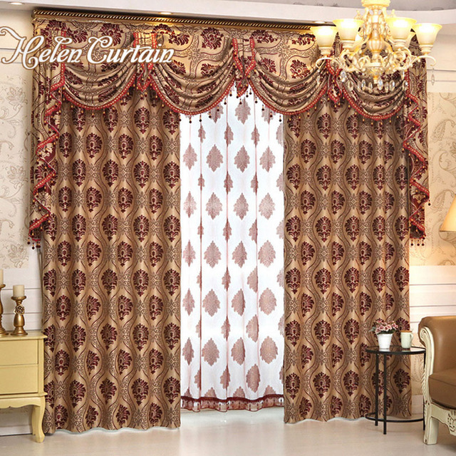 Helen Curtain Europe Style Blackout Beads Curtains Luxury Jacquard ...