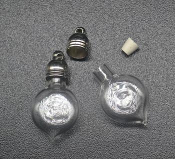300 шт. 25x12 мм оптовая форме сердца стеклянный флакон кулон с 5 мм металлический колпачок с резиновой разъем стеклянные медальон подвески