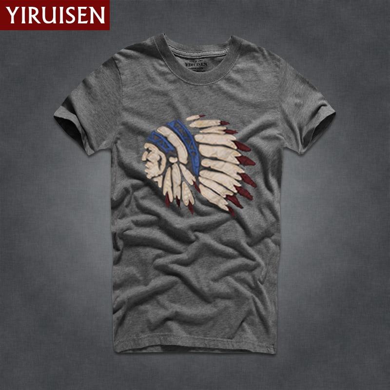 YIRUISEN Gloednieuwe York Stijl t-shirt Mannen Korte Mouw Mode 2016 - Herenkleding - Foto 3