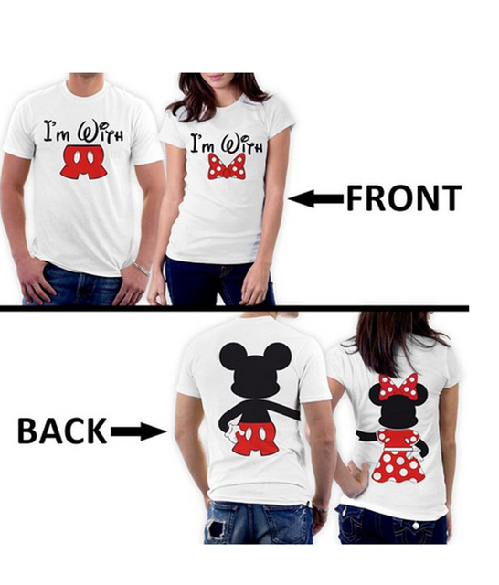 2017 New Arrival Couples Shirt Mickey Minnie Two Sided Matching