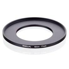 RISE original (UK) 49mm 77mm 49 77mm 49 a 77 anillo de aumento adaptador de filtro negro