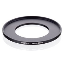 original RISE(UK) 49mm 77mm 49 77mm 49 to 77 Step Up Ring Filter Adapter black