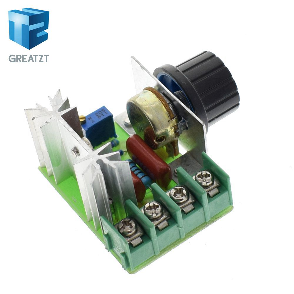 Integrated Circuits Active Components Disciplined Greatzt High Quality 2000w Ac 220v Scr Electronic Voltage Regulator Module Speed Control Controller Worldwide Top Sale