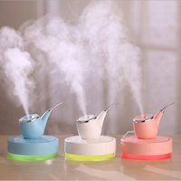 GRTCO USB Ultrsonic Aroma Diffuser Essential Oil LED Pipe Mist Fogger Air Humidifier With Mood Light