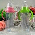Atualizado Durável Crianças Bebê Palha Copo Bebendo Garrafa Sippy Xícaras com Alças Design Bonito Mamadeira PP Plástico WB572 P15 NÃO
