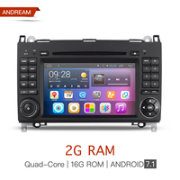 Android 7 1 2 Din 7 Inch Car DVD Player For Mercedes Benz Sprinter W209 W169