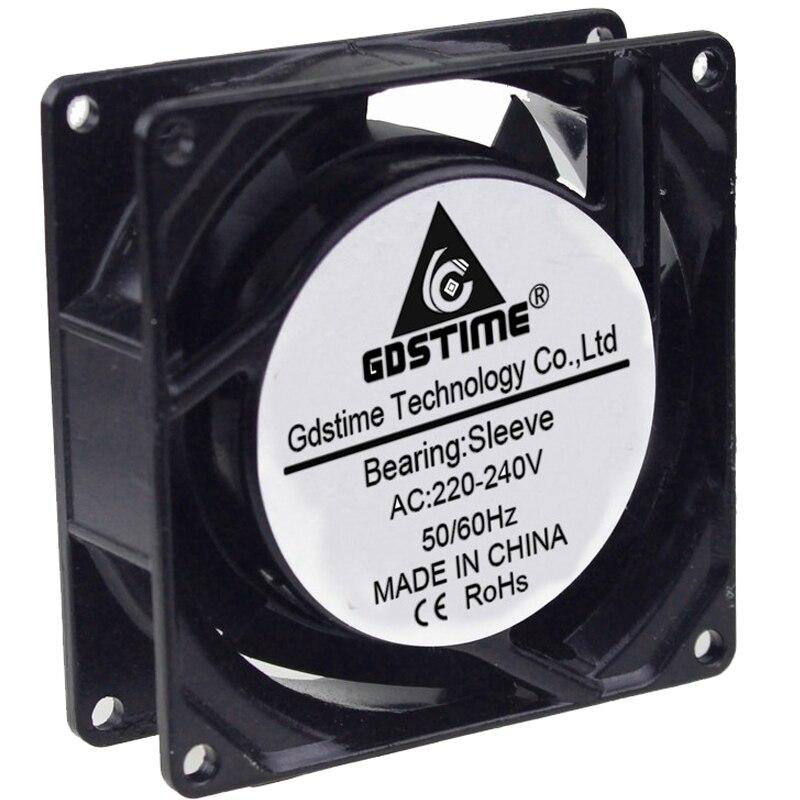 2Pcs Gdstime Metal 120mm 12cm 120mm x 38mm Sleeve AC 220V 240V Cooling Fan