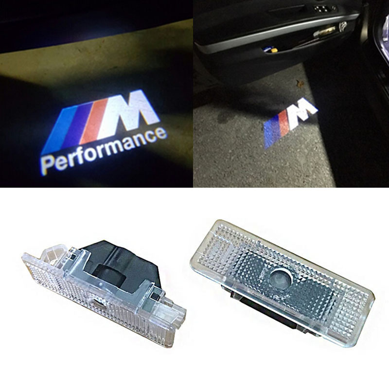 2X No Drilling LED Ghost Shadow Projector Laser Courtesy Logo Light For  E53 X5 BMW E39 2x led door step ground courtesy laser projector ghost shadow 3d brand light lamp logo for audi new a8 a7 q3 a6l 2 5 30 4363