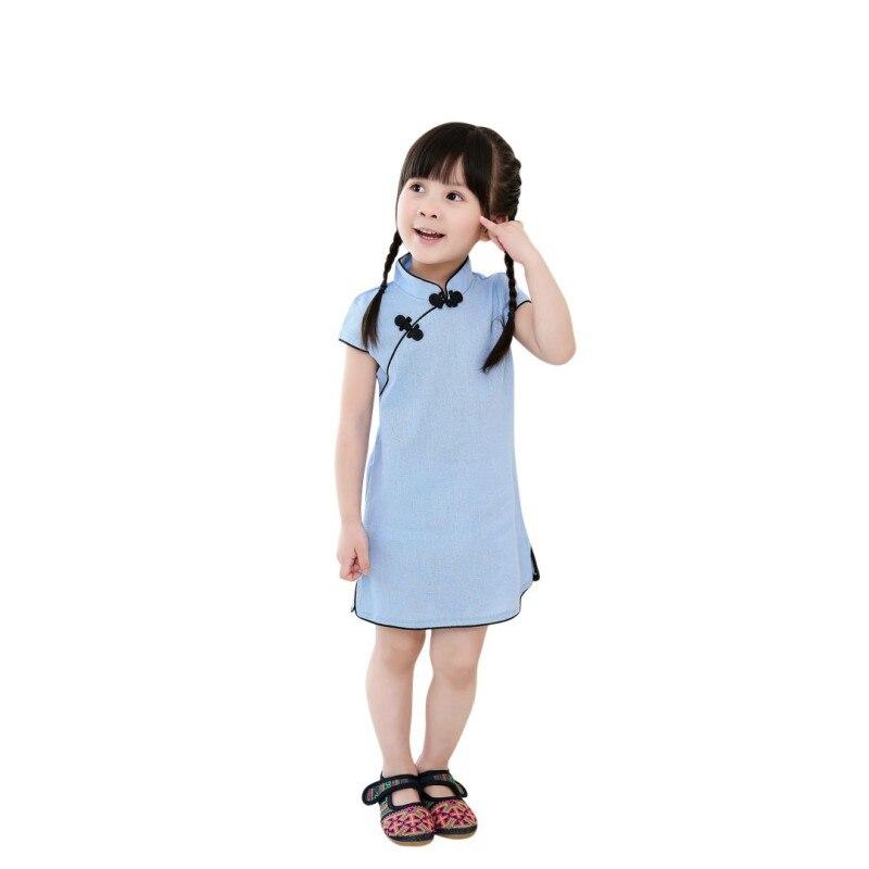 Detalle Comentarios Preguntas sobre Año Nuevo Chino niñas cheongsam vestido  qipao sólido Bebé Ropa de algodón tradicional vestidos Rosa 2018 más nuevo  en ... 465d6bf70a2