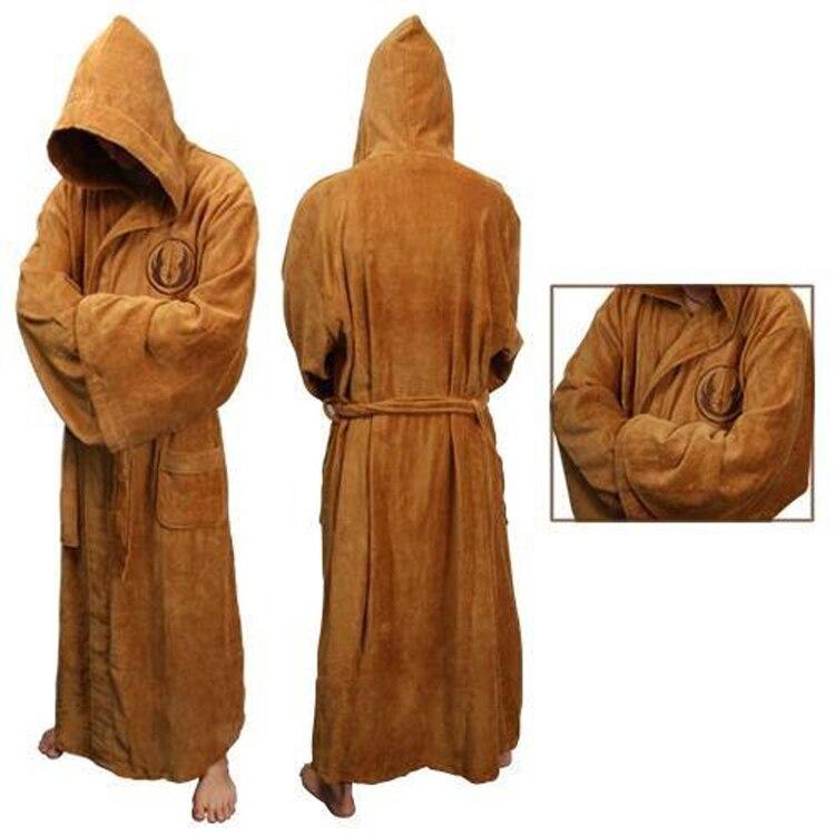 Star Wars Jedi Knight Bath Robe Cosplay Costume Brown Robe Dress Gown Sleeping Wear Pajamas Darh Vader Cosplay Costume AW-P2Q