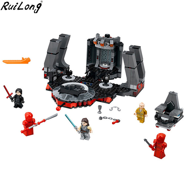 New Star Wars Snoke's Throne Room Set Compatible Legoing StarWars 75216 Model Building Blocks Bricks Children Toys Christmas