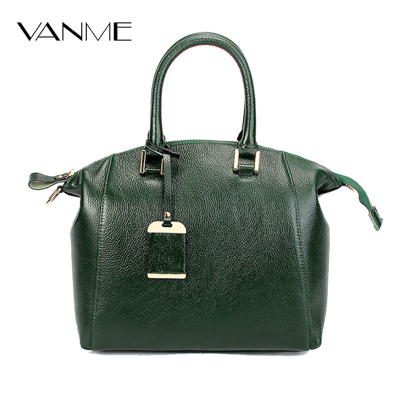 European and American Style Cow Leather Luxury Handbags Women Bags Designer Vintage Crossbody Bag Green Large Capacity Tote Bags women messenger bags crossbody small shoulder bag ladies leather luxury brand zipper handbags 2017 european and american style 4