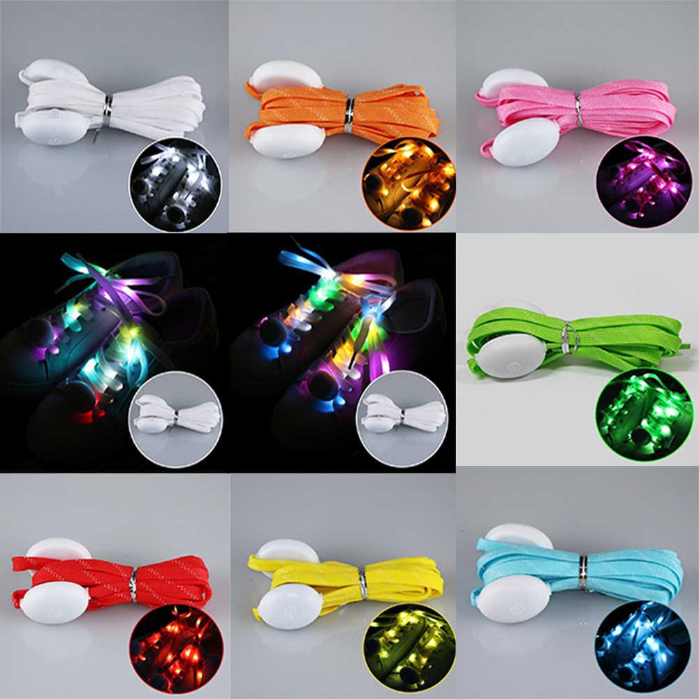 Lustige Leucht Multicolor Kühlen Außen Leuchten Wasserdicht Club Blinkende Partei Batterie Powered LED Schnürsenkel Charming Schnürsenkel
