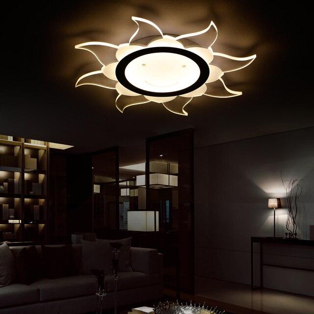 Led Nordic Iron Acrylic Sun Lamp Light Ceiling Lights