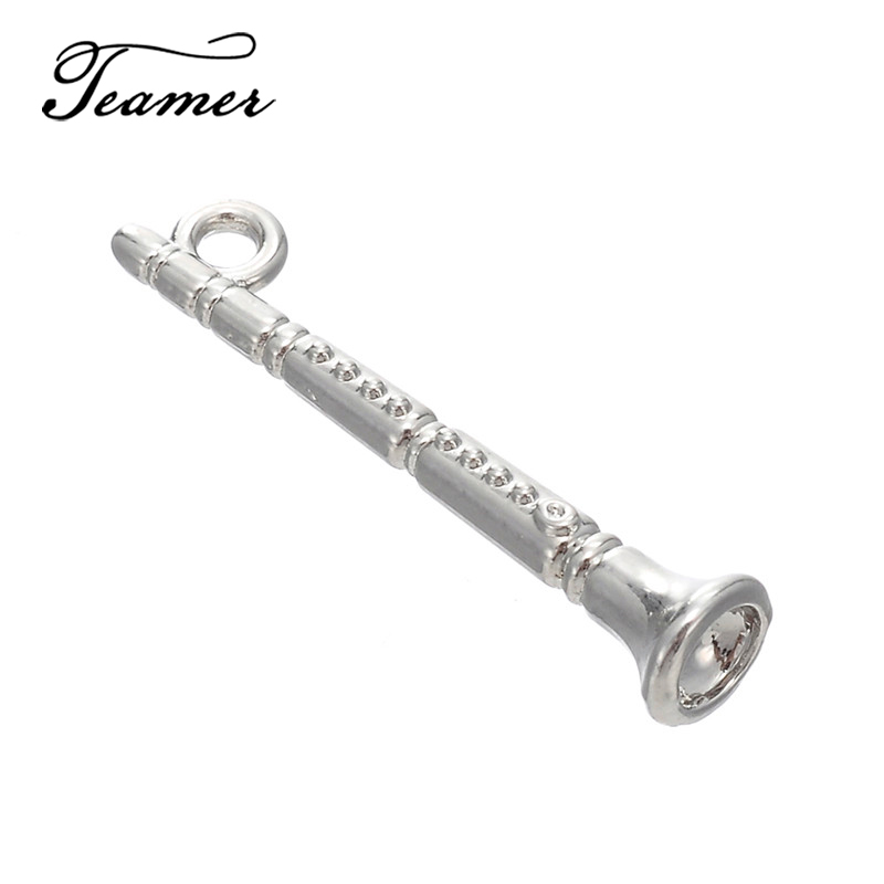 20Pcs Flute Charms for Jewelry Making Bracelet Necklace Accessories DIY Gift