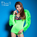 New Fashion Jazz harem ds women hip hop dance singer costume performance wear sexy female Flower neon color one piece Bodysuit
