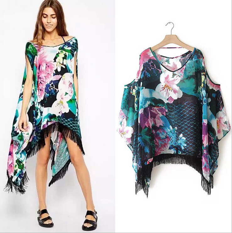 Online Shop Kimono Cardigan 2015 Fashion summer Women Blouse ...