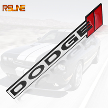 цена на 3D Metal Car Auto Sticker Emblem Badge For Dodge Challenger RAM 1500 Charger Avenger Caliber Dart Nitro Car styling Accessories