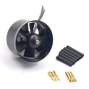 Image 2 - QX ventilador con conductos de 30mm EDF 6 Paddle QF1611 5000KV 6000 KV 7000KV 14000KV Motor sin escobillas para modelo de Avión RC DIY