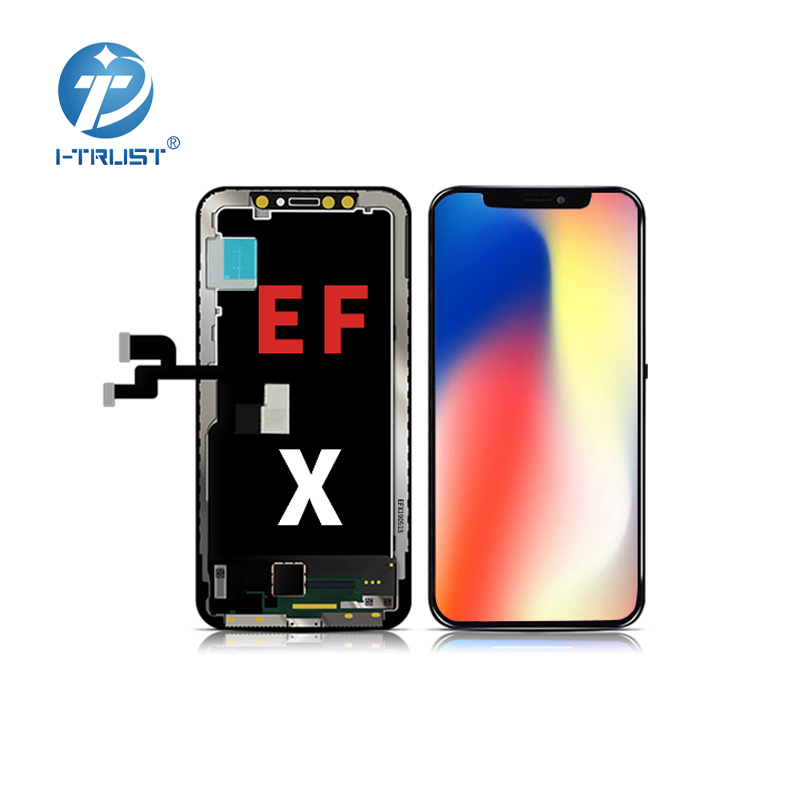 1 1 original LCD amoled Flexible quality touch screen for iphone X display replacement thin thickness