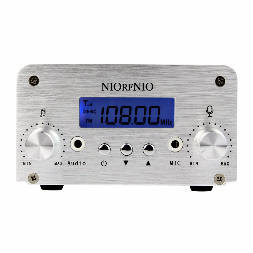 NIORFNIO 1W / 6W PLL FM Transmitter Mini Radio Stereo Station Xmitter Intelligent Broadcast System Y4331D t15b 5w 15w audio wireless bluetooth fm transmitter broadcast radio station 87 108mhz power supply for car gold silver