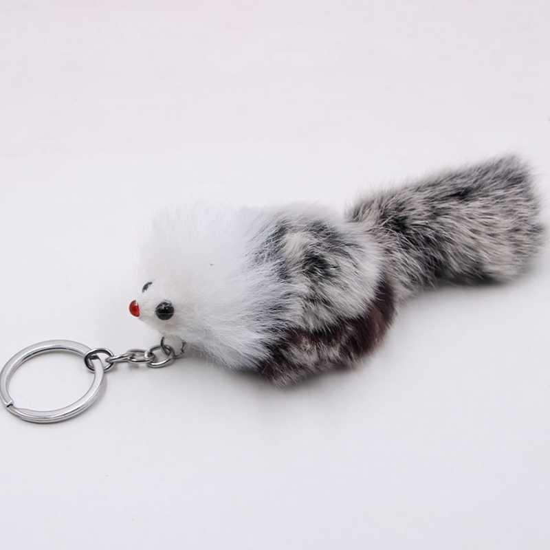 ใหม่น่ารักปุย Crown Bow - knot Fox Key Chain แหวน Pompom ขนสัตว์ประดิษฐ์พวงกุญแจกระเป๋ารถแหวนผู้หญิงเครื่องประดับ