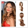 Ombre Color 1B Brown Heat Resistant Long Curly Wigs Queen Hair Products Natural Cheap Sexy Cosplay Full Wigs For Female Hair