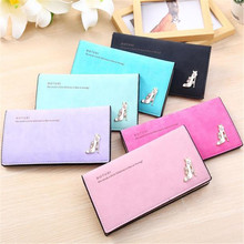 2016 Wallet Female Fashion Beauty Lovely Women Purse Long Zip Wallets Thin Card Holders Women Girl High Heels Slim Coin Purse