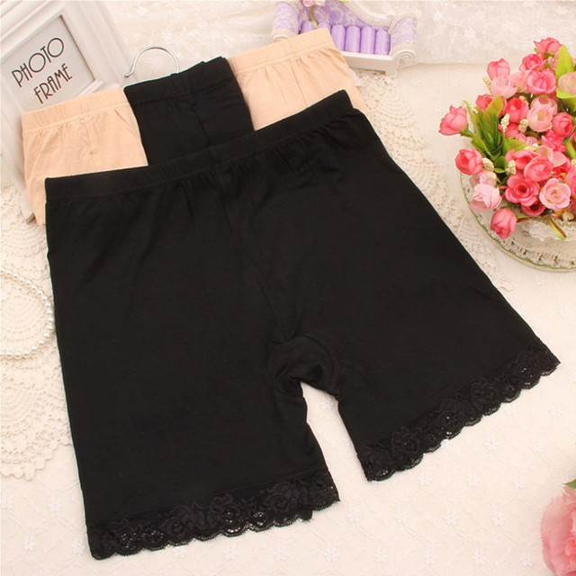 Puls size Women Lace Safety Short Pants