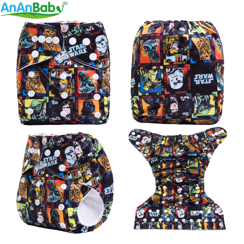 New Print Reusable Cloth Nappy With Suede Inner Baby Cloth Diaper Pocket Waterproof Pul Cover Fit 3-15kg