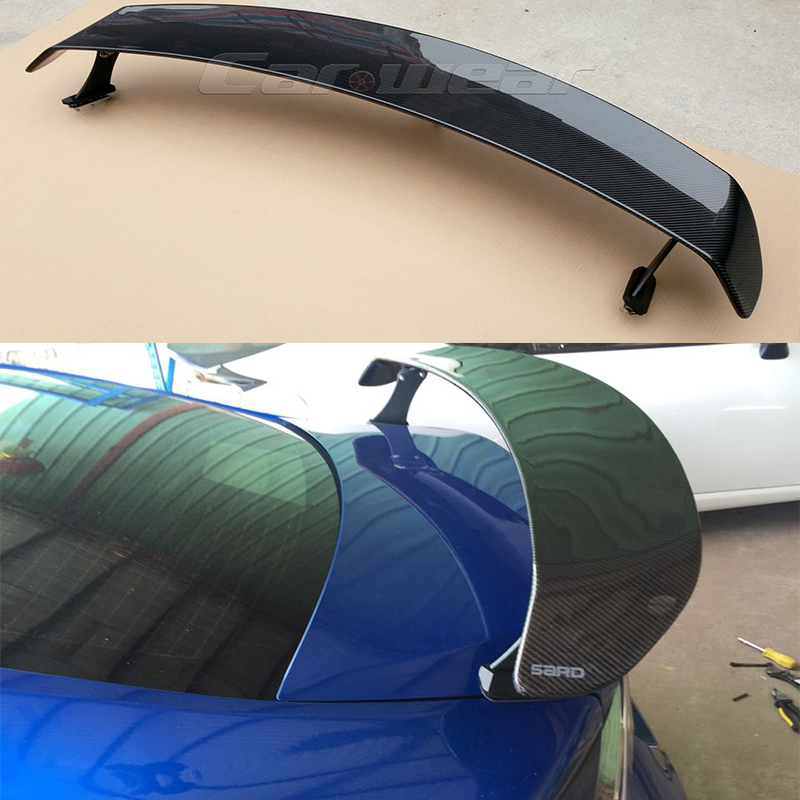For Toyota GT86 Subaru BRZ Scion FR-S Carbon Fiber Auto Car Rear Trunk Spoiler Wing 2012-2015 SARD Style 2pcs set carbon fiber side fender fin trim for subaru brz toyota gt86 scion fr s 12 16 air dam vent decoration stickers