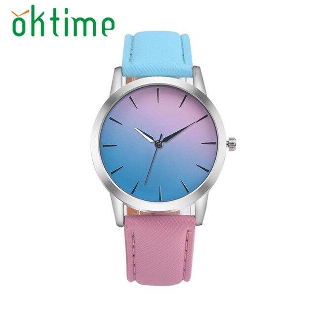 Uhr Reloj 2018 relogio masculino Frau uhren Regenbogen Design Armbanduhr Geschenk Uhr Saat Dropship 17JUL20