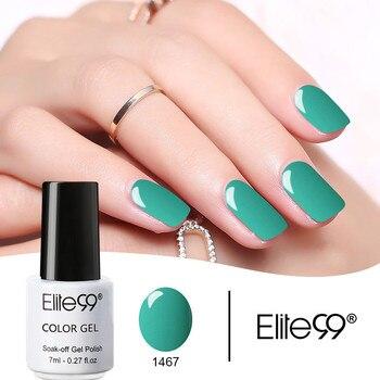 Elite99 7 ml Gel Nagellack Tränken Weg Vom UV LED Nagel Kunst Bunte Maniküre Für Lang anhaltende Gel Lack 58 farben Kleber Lack
