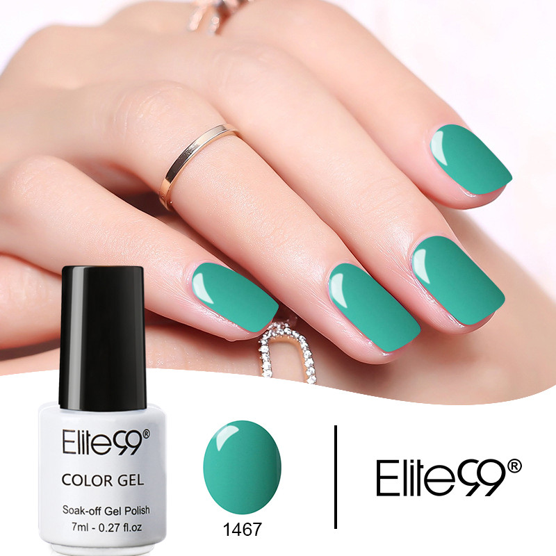 Elite99 7ml UV Pure Color Series Gel Nagellack Långvarig Nagellack Polsk Vernis Semi Permanent Nagel Primer Gel Lack