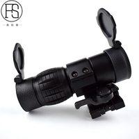 Tactical 3X Magnifier Optics Scopes Riflescope Fits Sight Flip with Flip Side 20mm