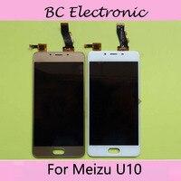 White Black Gold Colour For Meizu Meilan U10 Touch Screen Digitizer LCD Display For Meizu U10