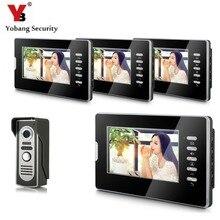 YobangSecurity Wired 7″Inch Monitor Video Intercom Doorbell Door Phone Audio Intercom Entry Access System 1 Camera 4 Monitor
