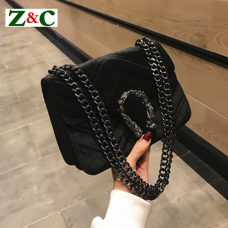 New Velvet Handbags Small Cover Flap Pocket Bag Quilted Women Shoulder Bag Designer Clutch Chain Messenger Bags Famous Brands GG цены